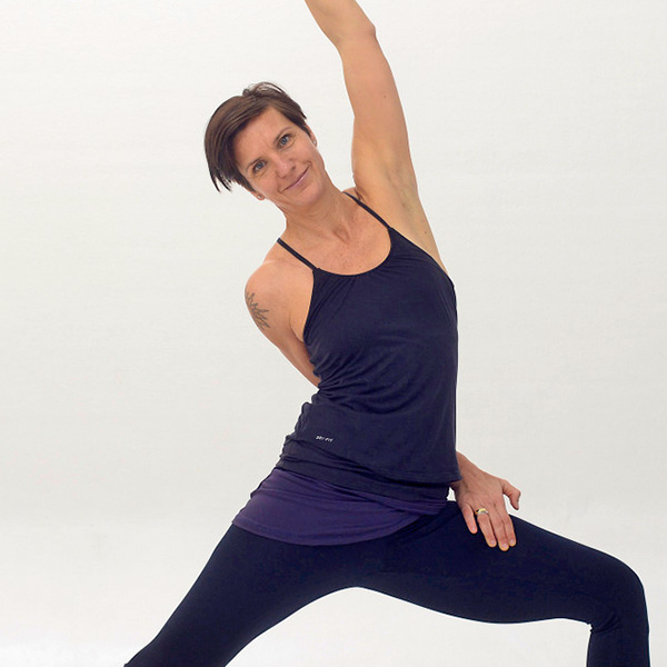 Yogalehrerin Britta Schulz